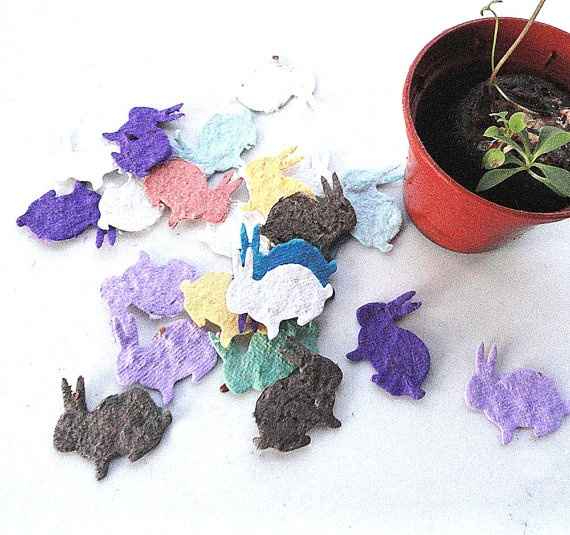 Easter seed bunny rabbits...estySpring Gift, Easter Parties, Spring Parties, Unique Spring, Parties Favors