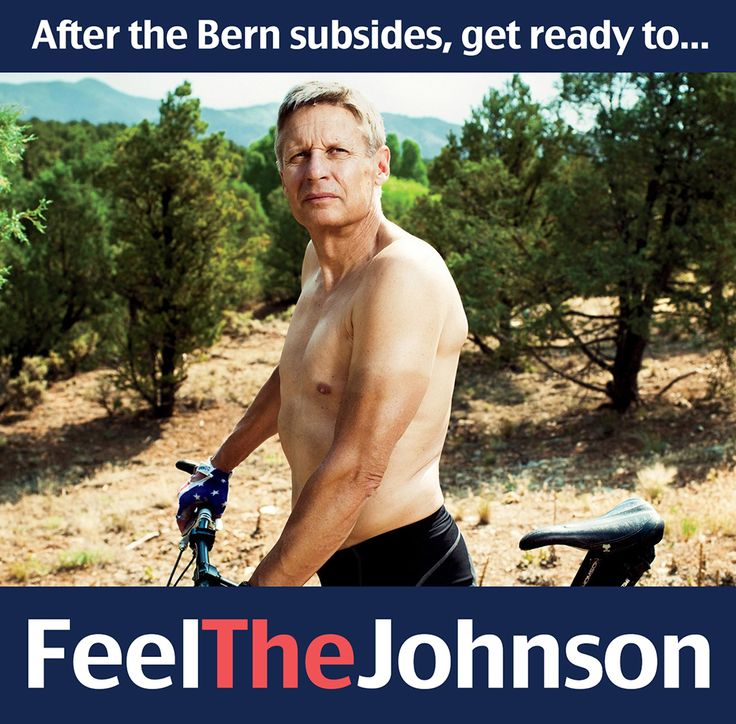 AfterBerner: Libertarian Presidential candidate Gary Johnson.