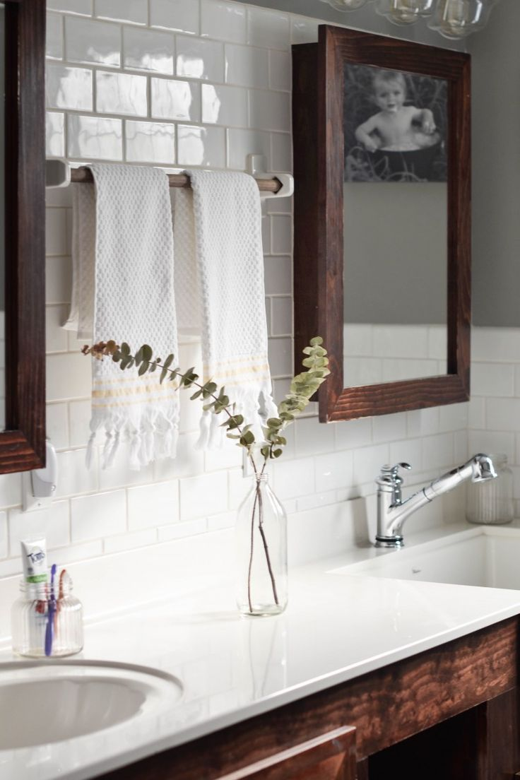 The 25 best fresh modern bathroom with white subway tiles ideas kids farmhouse bathroom reveal with toms of maine white subway tile dailygadgetfo Image collections