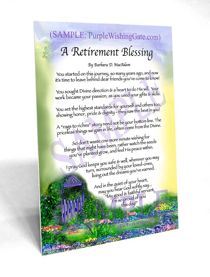 A Retirement Blessing | Baby blessing, Birthday blessings ...