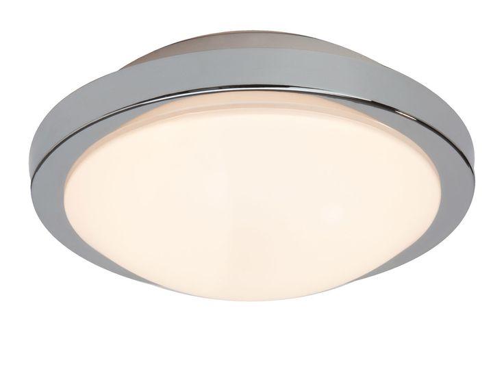 Caractéristiques techniques: Plafonnier rond LED avec detecteur de mouvement Marius Matières : en métal et verre Dimensions : Diamètre de 26 cm Coloris : gris et blanc...