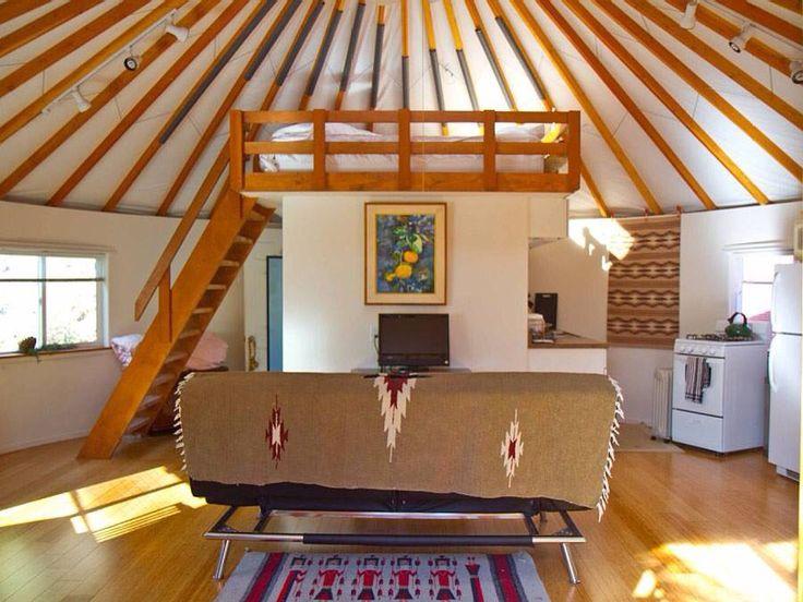 I Like The White Wall With The Wood Trim · Yurt HomeYurt InteriorCountry ...