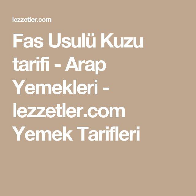 Fas Usulü Kuzu tarifi - Arap Yemekleri - lezzetler.com Yemek Tarifleri
