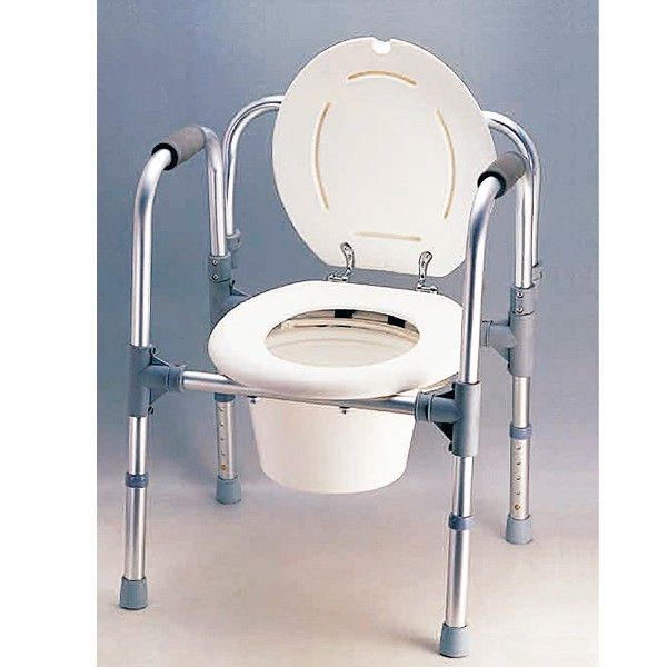Baños Con Inodoro Independiente:SILLA BLANCA CON INODORO 3 EN 1 – REF: AD-905: Es una silla cómoda