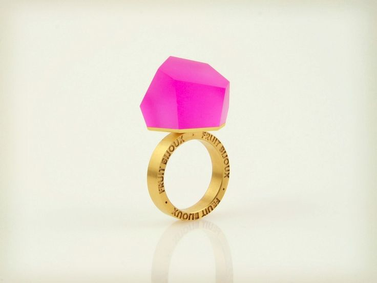 +Vu+–+magenta+rosa+Goldring+-=PYO=-+von+Fruit+Bijoux+auf+DaWanda.com