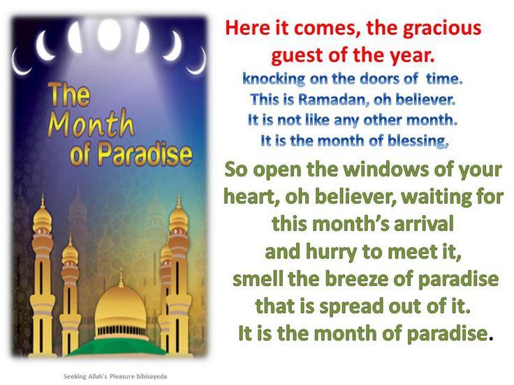 Ramadan month of paradise
