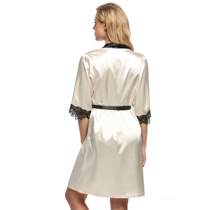 Women's Kimono Robe Knee Length Bathrobe