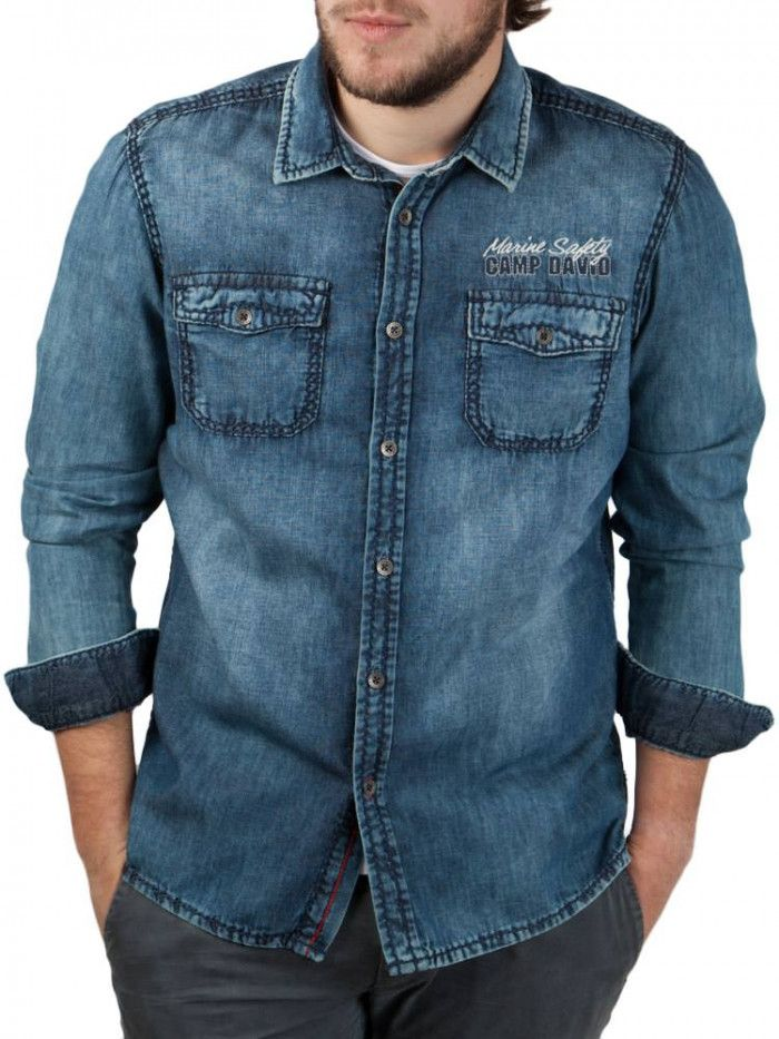 Camp David ® Jeans Shirt with washing