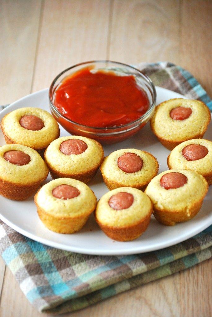 Mini Corn Dog Muffins - Use Jiffy Corn Muffin Mix (or favorite recipe ...