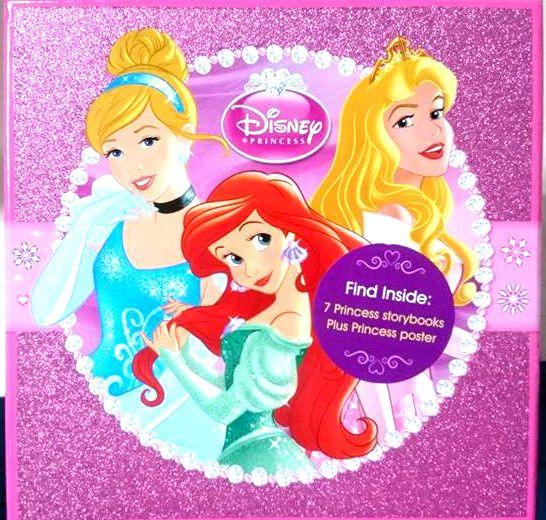 NEW Disney Princess 7 Storybooks Set Plus Poster Stickers Xmas Gift Free Shippin