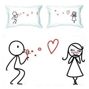 Another cute his and hers pillow cover idea