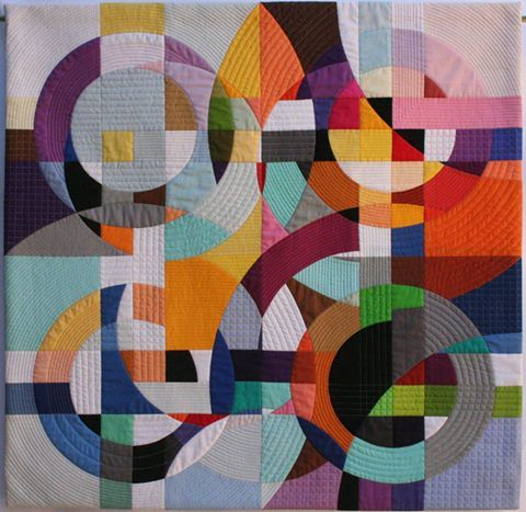 """Susan Wessels """"Flow"""" is part of an ongoing exploration of asymmetry vs symmetry, the movement and energy created by the unpredictable within a fixed structure. It won a second prize in the Geometric Masters category at the Siyadala National Festival, now on in Port Elizabeth. #geometricabstraction"""