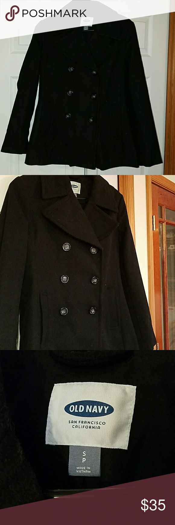 Black Pea Coat - Old Navy - Size Small Never used, black pea coat Old Navy Jackets & Coats Pea Coats