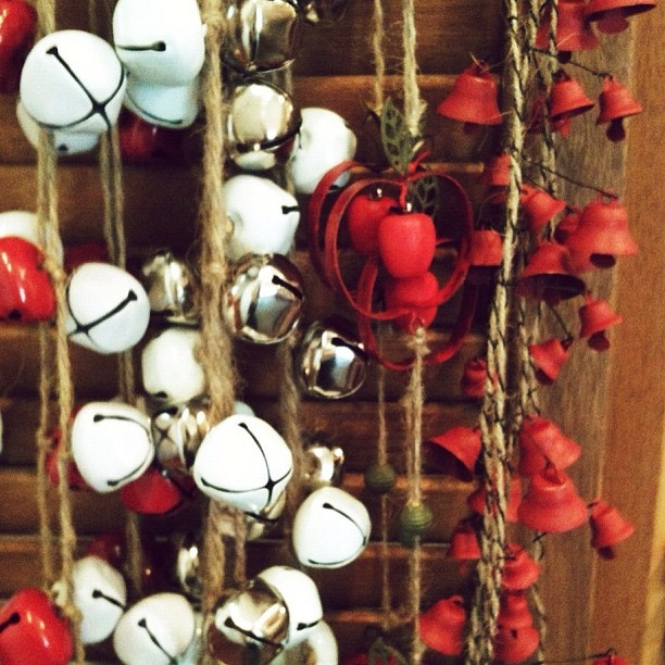 our #christmas jingle bell garlands...