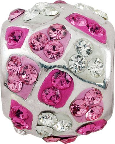 """Persona Sterling Silver """"A Pinch of Rose Crystal"""" Charm H11705P2-02"""