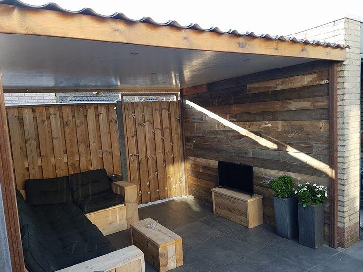 Complete zithoek Steigerhout en sloophout