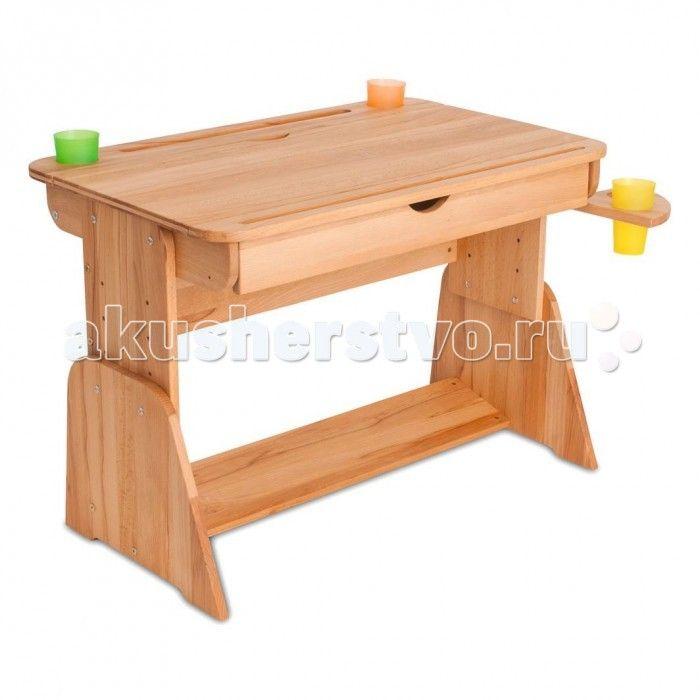 Абсолют-Мебель Парта Школярик с мольбертом и выдвижным ящиком 70 см  Абсолют-Мебель Парта Школярик с мольбертом и выдвижным ящиком 70 см из натурального дерева.  Особенности: Экологически чистое покрытие массива - льняное масло. Подставка для ног, формирующая правильную осанку. Данная модель превращается в МОЛЬБЕРТ! Наклон столешницы 11 положений 0-60 градусов. Выдвижная полочка-пенал под столешницей. Подстаканники в комплекте. Изготовлена из экологически чистого массива бука. Подходит для…