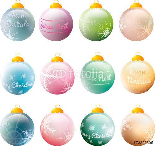 """Scarica il vettoriale Royalty Free  """"colorful christmas baubles with greetings and snowflakes"""" creato da TTLmedia al miglior prezzo su Fotolia . Sfoglia la nostra banca di immagini online per trovare il vettoriale perfetto per i tuoi progetti di marketing a prezzi imbattibili!"""