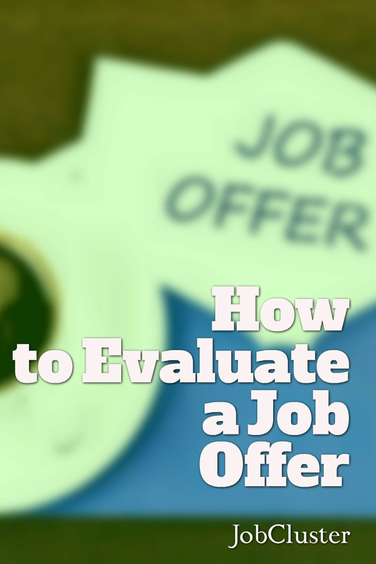 Elegant How To Evaluate A Job Offer And Make The Right Decision. Find This Pin And  More On Career Advice ...