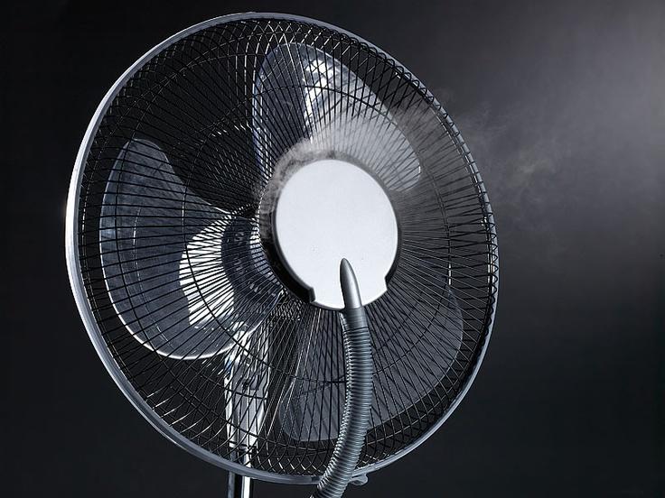 Sichler Stand Ventilator mit Ultraschall Sprühnebel & Fernbedienung