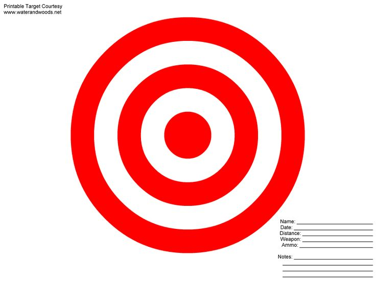 8X11 Printable Targets | Powerpoint Animation Clip Art Target You Wish ...
