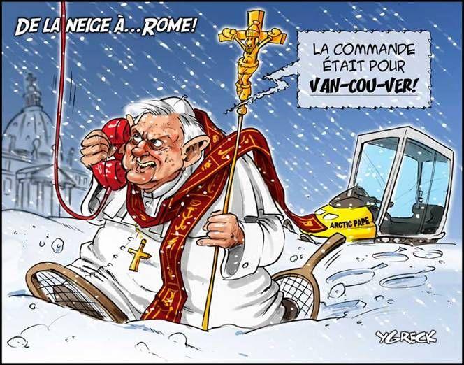 Il neige à Rome. Incroyable météo !