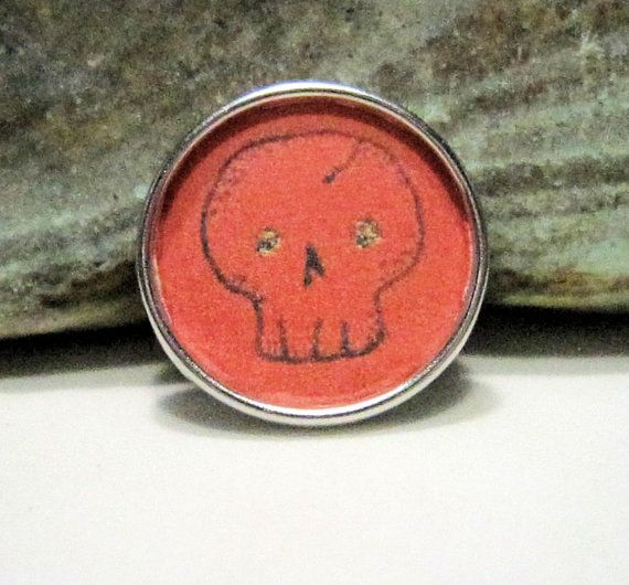 Halloween Skull  Chunk charms  Fits Ginger Snaps Magnolia