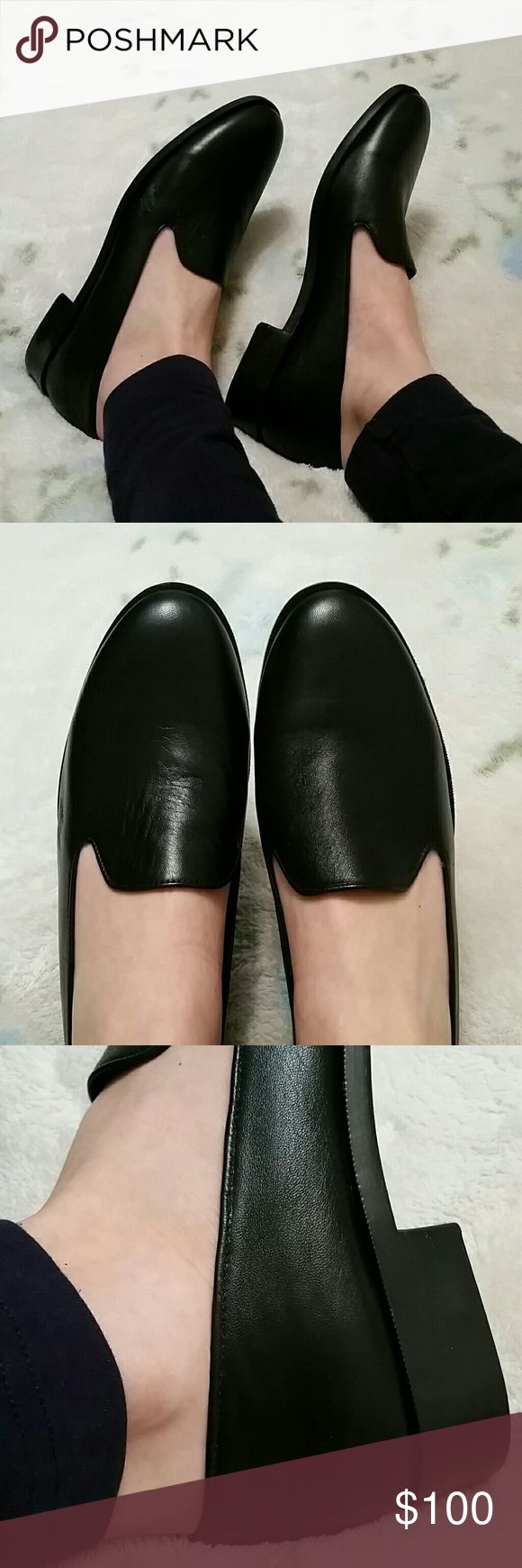 Black Leather Loafer NEW! Black Leather closed toe Loafer / soft luxurious leather, flexible rubber sole, leather lining / Made in USA! / perfect for office wear or running errands. . Looks like something Barney's would sell! *no trades brand name is NYLA premium NYLA premium Shoes Flats & Loafers