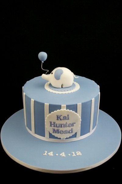 Elephant Naming Day Cake By Taste_Cake_Design on CakeCentral.com