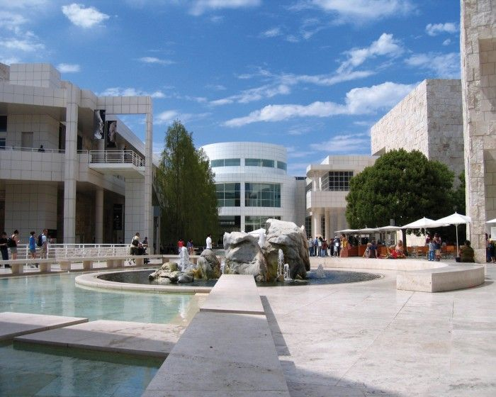 J. Paul Getty Center - art, gardens, incredible views. A must!  Public trans will take ~ 2 hours, so carpool with someone to get your Getty on.