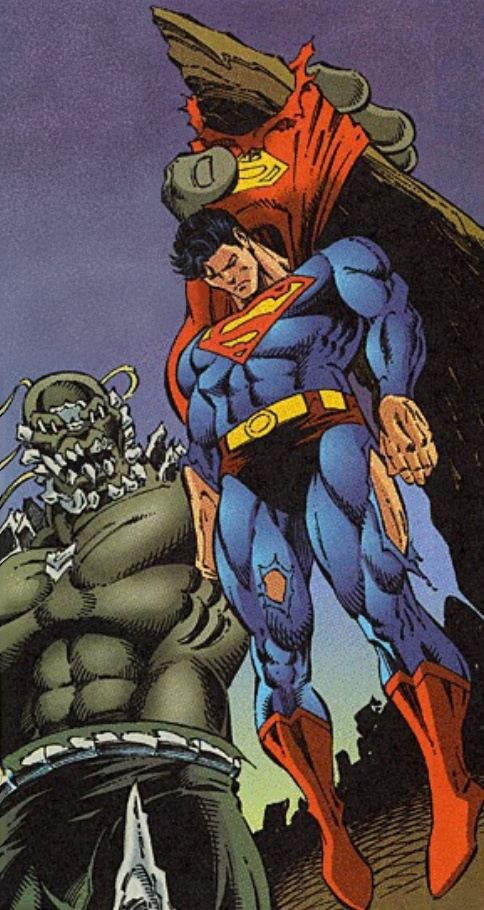 Superman (Clark Kent), also known as The Man of Steel is a fictional character, a superhero in the DC Comics universe. Created by Jerry Siegel and Joe Shuster in 1938, first appearing in Action Comics #1.