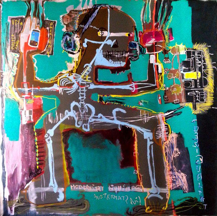 """""""modernitat líquida"""" (ZYGMUNT BAUMAN) 202 x 201 cm"""