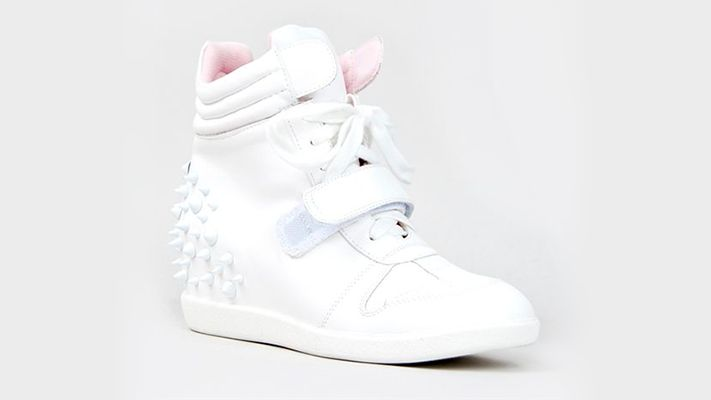 Spike Back Wedge Sneakers | Znaffle, #Znaffle, #BeckyG, #StealHerStyle, #WhatStarsWear, Spot this item in the original music video, http://znaffle.com/videos/becky-g-play-it-again-537