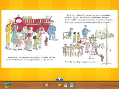 The curious reader giver en gratis Curious George bog. Hvis man inde i appen trykker på hjemmesiden får man også historien Curious George the dog show gratis. Begynderengelsk.