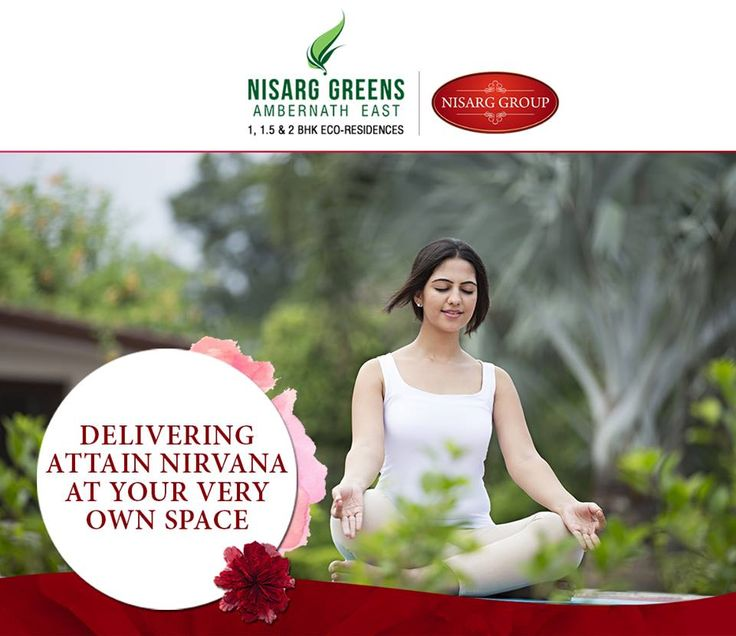 """""""Delivering Attain Nirvana At Your Very Own Space"""" Nisarg Greens - Ambernath East 1, 1.5 & 2 BHK Eco-Residences #MahaRera Registration Number for Phase II - P51700008839 To know more log on to: http://www.nisarggroup.com/greens/ Or you can call on: 08655 787878   SMS 'GREENS' to 56161 #NisargGreens #Ambernath #RealEstate #EcoLuxury #Property #Homes"""