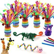 20Pcs Şönil, Doğum Günü Partisi Eğitici Oyuncaklar Için DIY Bulmaca Yapı Taşı Hediyeler için Renkli Çubuklar Kaynar (Çin (Anakara))
