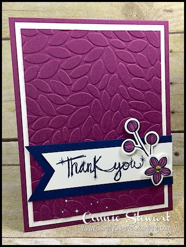 Make It Monday – Sparkly Thank You Card