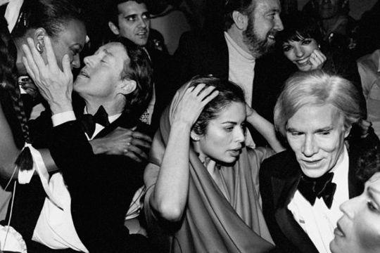 Studio 54.   Andy Warhol, Bianca Jagger, Jack Haley y Liza Minnelli.