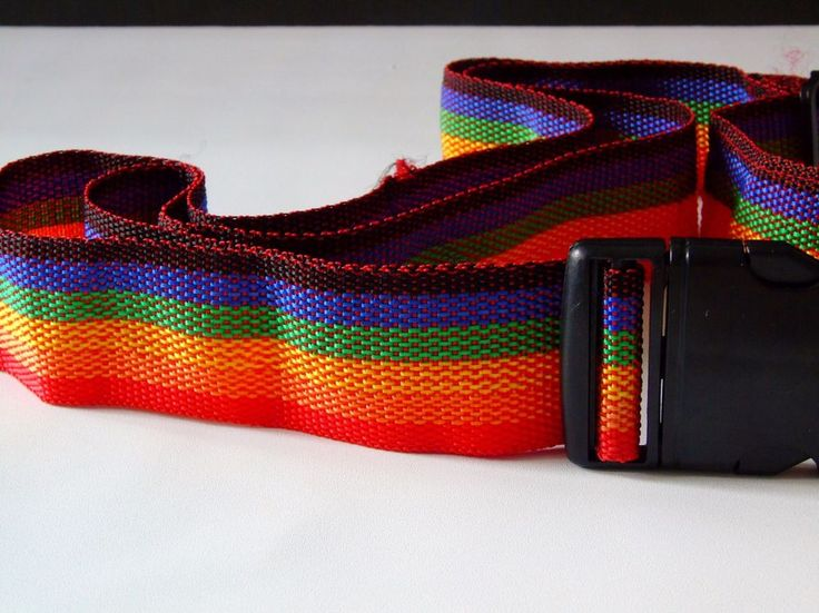 Vintage Rainbow Color Luggage Strap Adjustable Belt  | Travel, Luggage Accessories, Luggage Straps | eBay!