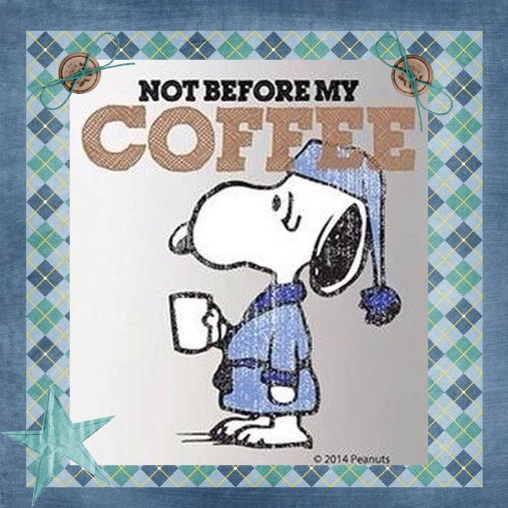 Snoopy - Not Before My Coffee