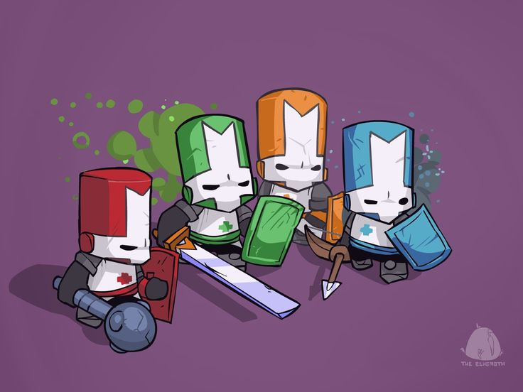widescreen wallpaper castle crashers