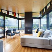 Plywood ceiling designs living room contemporary with coloured glass pitched roof kew house