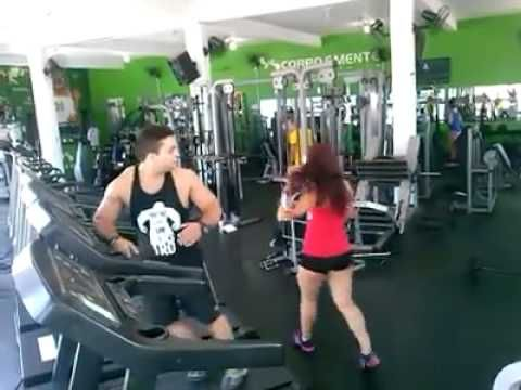 Boy Fall In Gym while watching Girl