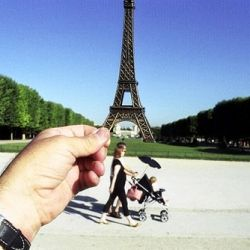 Optical Illusion Photos of Famous Landmarks Replaced With Cheap Travel Souvenirs by Michael Hughes.