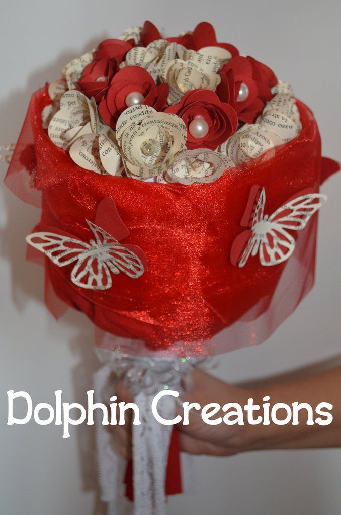 Bouquet di fiori in carta, by Dolphin Creations - Handmade by Laura, 60,00 € su misshobby.com