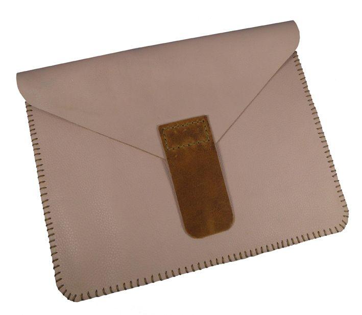 Hand Sewn Pale Pink iPad Sleeve