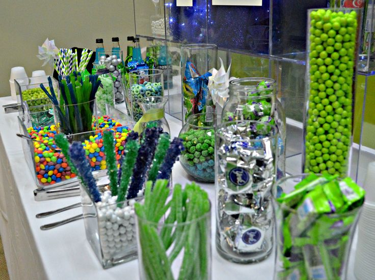 The Seahawks-themed candy bar was a huge hit with all our guests. And of course we had Skittles!