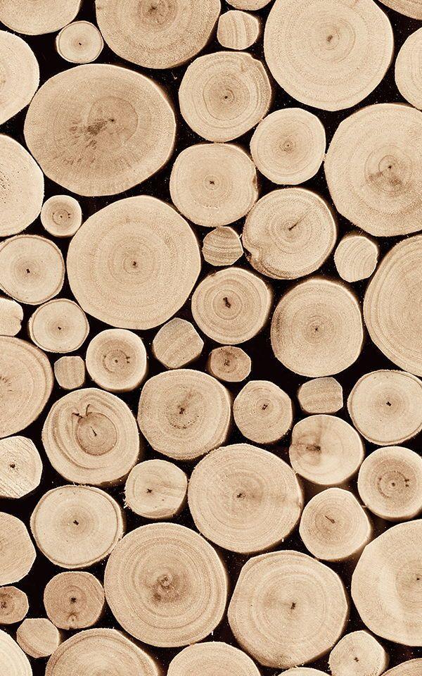 Stacked Logs Wallpaper Wood Effect Design Muralswallpaper Mural Wallpaper Log Wallpaper Wood Wall Design