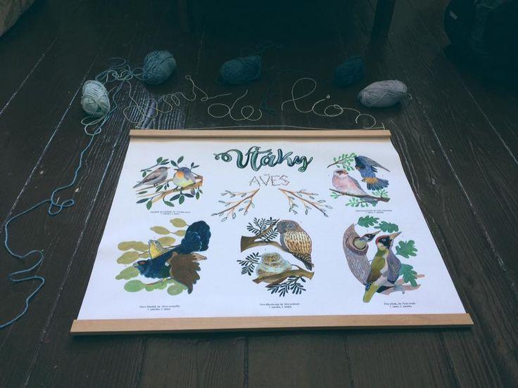 Birds poster made by dent de lion