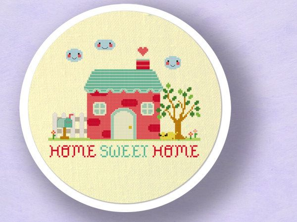 Our Sweet Home. Best Selling Cross Stitch Pattern. PDF File. $5.50, via Etsy.